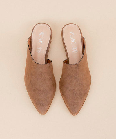 Sangria brown Asymmetric Matte Mule