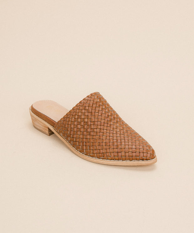 The Selene | Basket Woven Hand-braided Mule - FINAL SALE