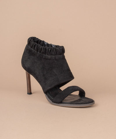 Shaye black Suede Peeptoe Stiletto