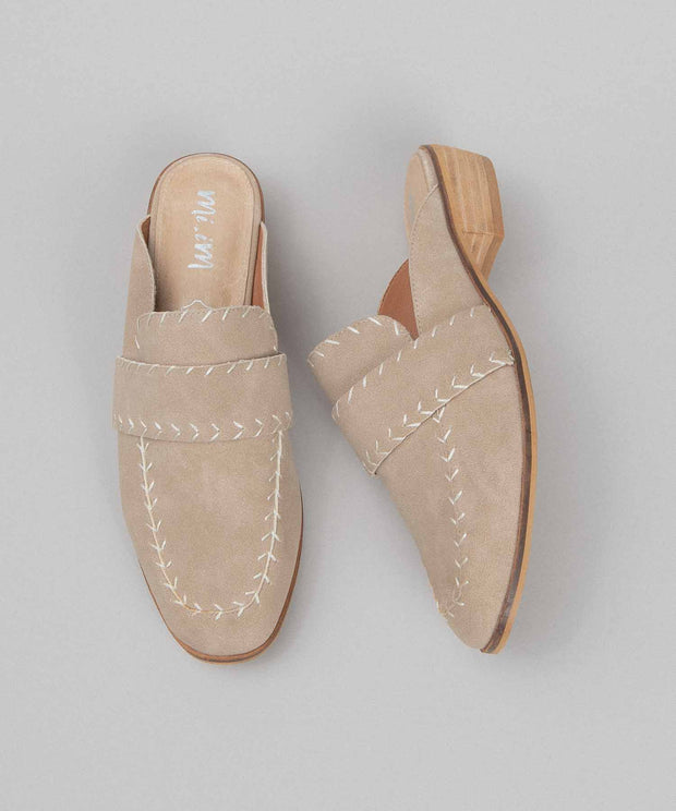 The Simone | Boat Stitch Loafer Mule