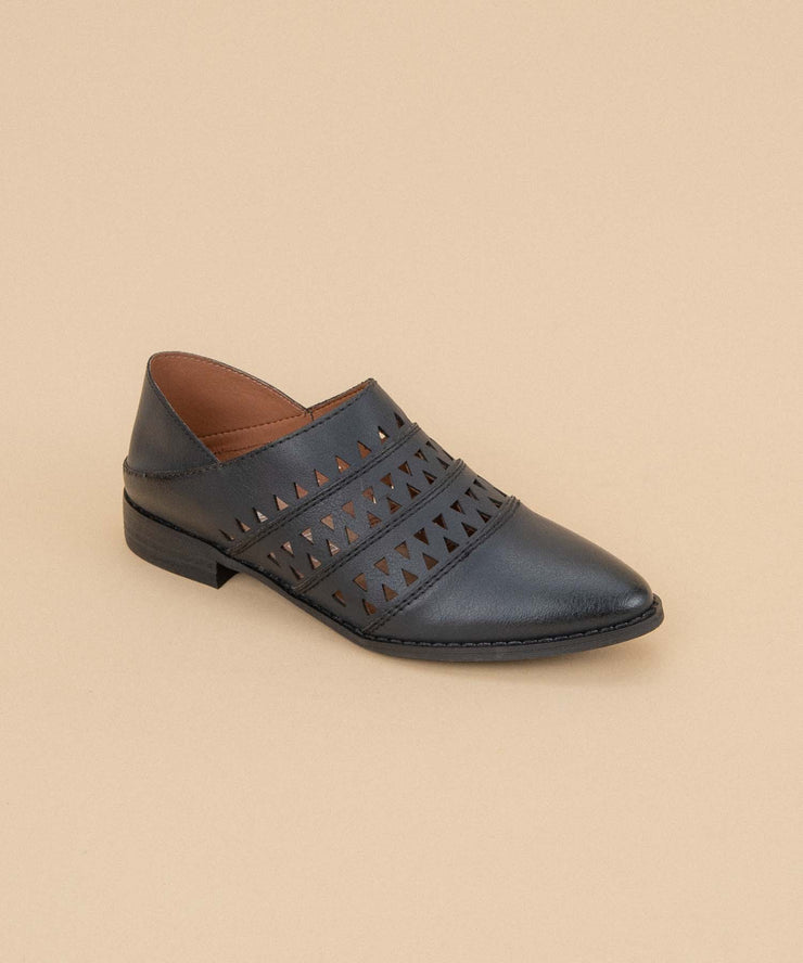 Stella black Convertible Loafer-To-Mule