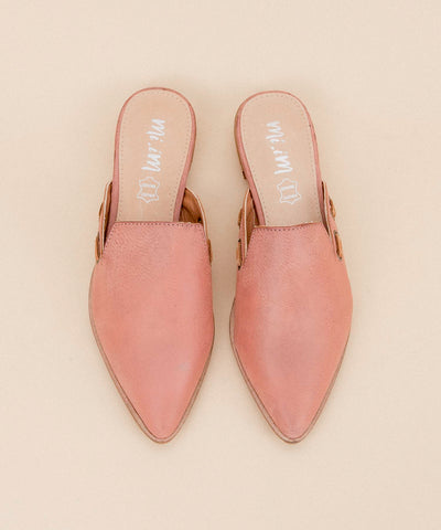 The Taylor | Simple Pointed Mules - Watermelon