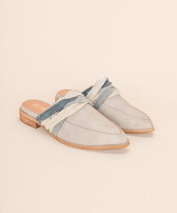 Tilli grey Fabric Wrapped Vintage Loafer