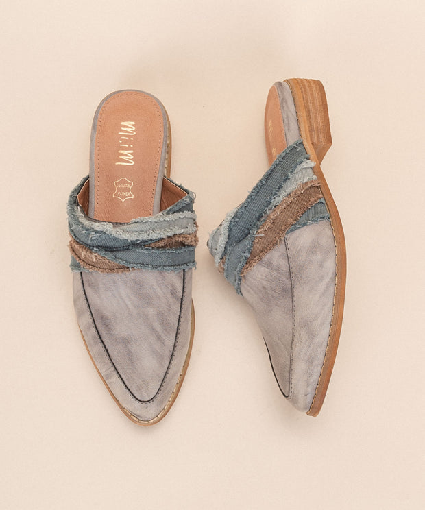Tilli slateblue Fabric Wrapped Vintage Loafer