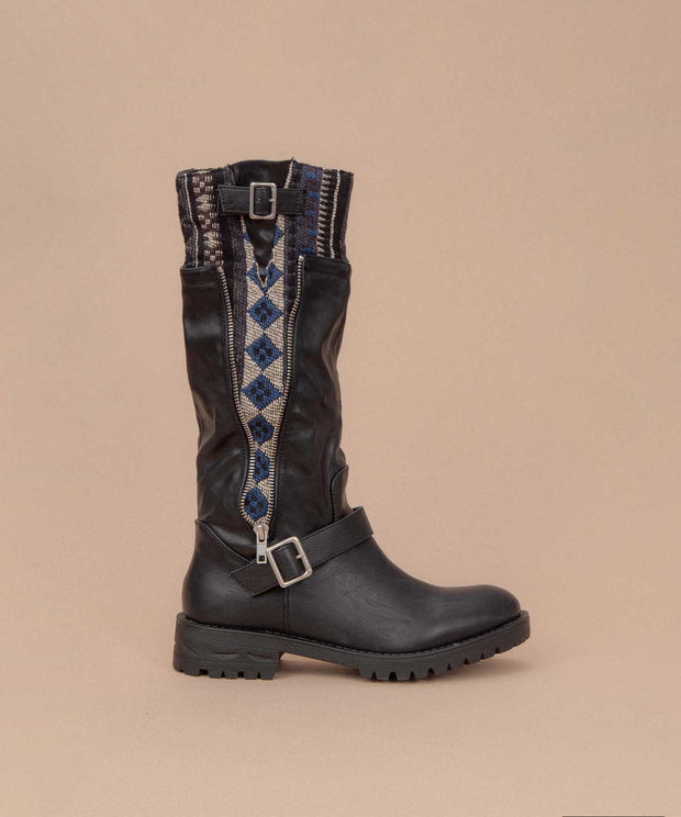 Uma-03 black Aztec Pop Boot