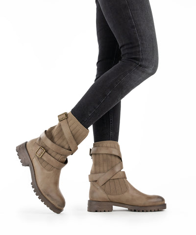 Uma-02 khaki Sweater Weather Boot