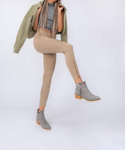 Venture light-grey Suede Aztec Bootie