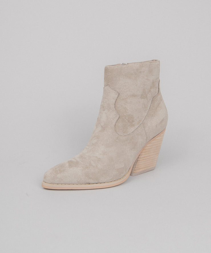 Vinya grey Simple Western Bootie