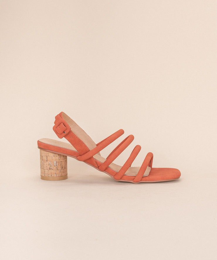 Zoey Orange | Multi Strap Sandal