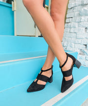 Paige black Toe T-Bar Heel