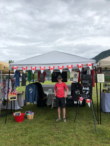 Canada Day market and meeting so many Shuswap lovers