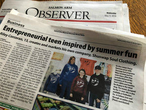 We were in the Salmon Arm Observer