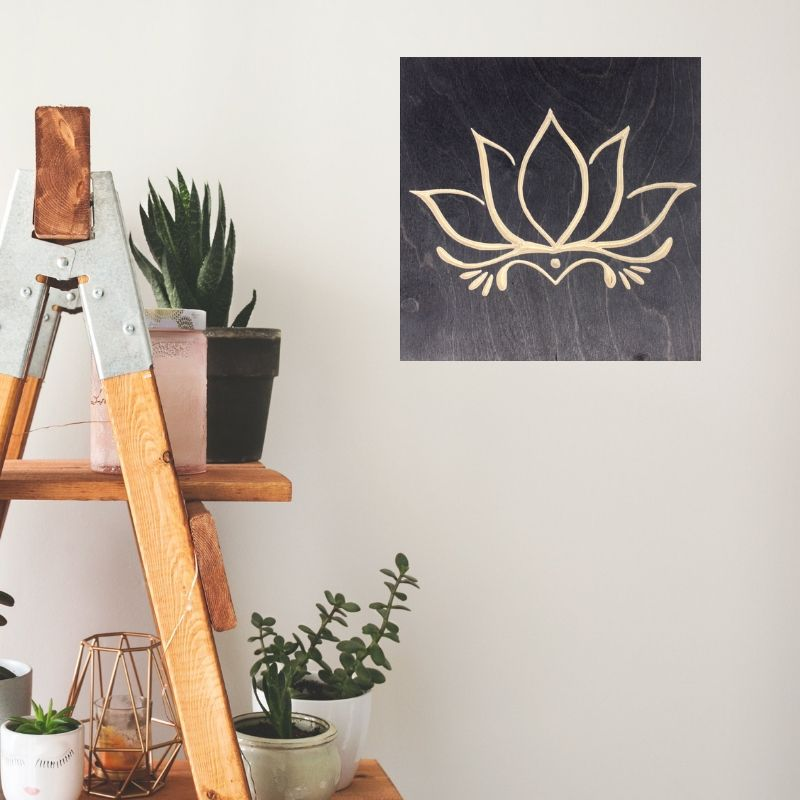 Lotus Flower Decor | Wood Wall Art