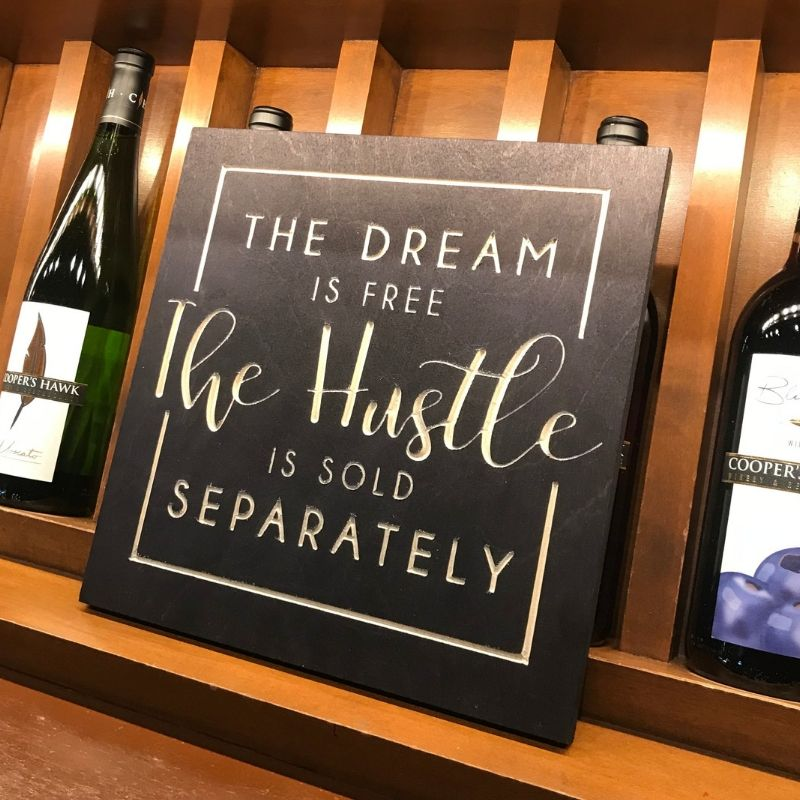 Motivational Quote | The Dream is Free THE HUSTLE is Sold Separately