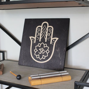 Hamsa Hand Om Shymbol with Chime | Zen Decor