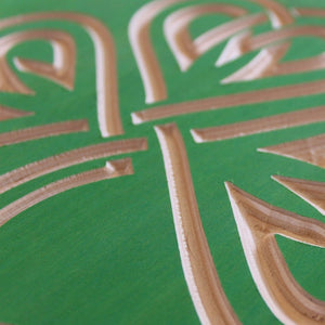 Celtic Shamrock | Carved Wood Art