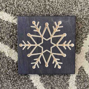 Delicate Snowflake Wood Art Desk Decor