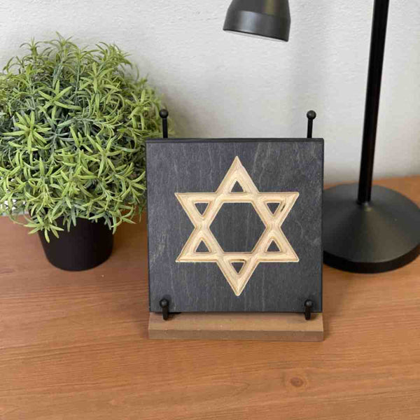 Star of David Jewish Desk Art Decor on desk