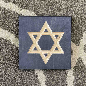 Star of David Jewish Desk Art Decor