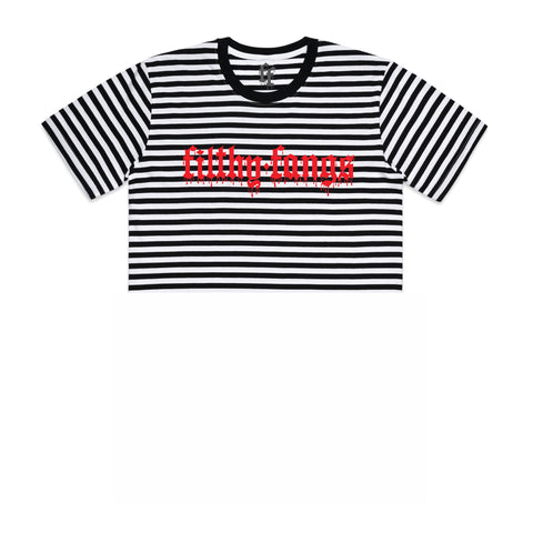 FILTHY AF STRIPED WOMEN'S CROP