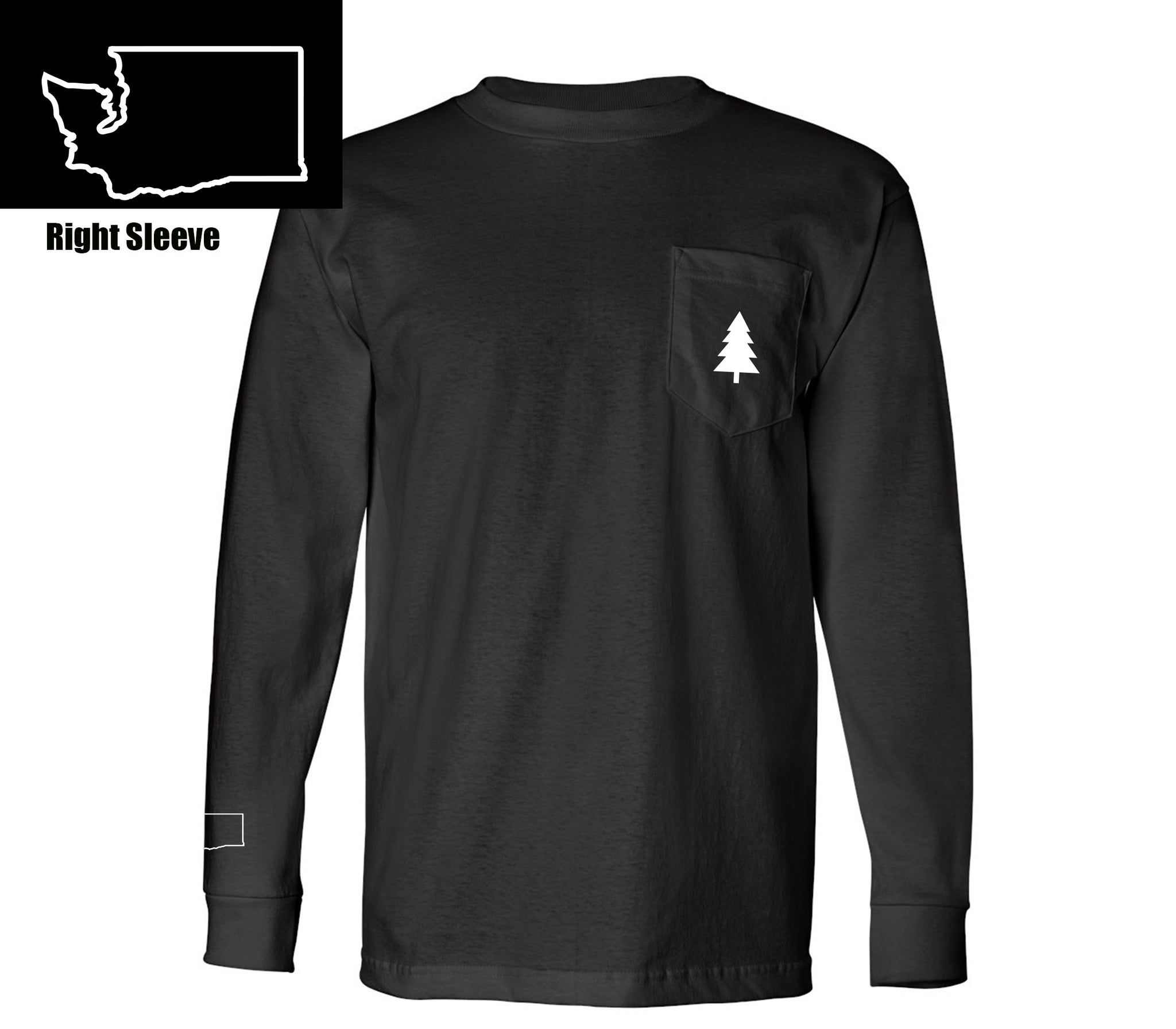 Northwest Tree Long Sleeve Pocket Tee Washington Edition