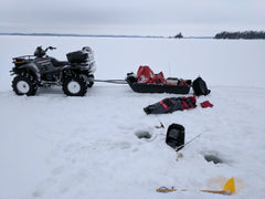 Quad used for Ice Fishing on Lake of the woods, Ontario