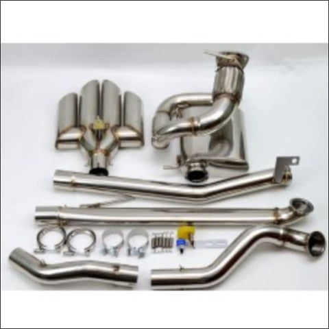 1320 Performance Rear Center Exit Quad Tip Exhaust (Non-Cat) - engine drivetrain