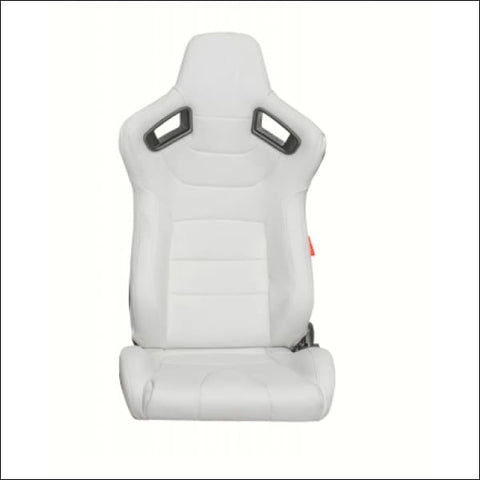 CIPHER CPA2009PCFWH LIMITED EDITION! WHITE LEATHERETTE CARBON FIBER W/ WHITE STITCHING - PAIR - interior