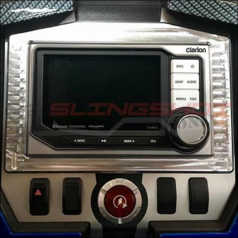 Clarion CMS5 Waterproof Stereo for the Polaris Slingshot - electronics