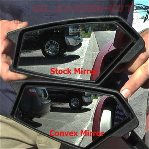 Side View Convex Mirror Set for the Polaris Slingshot - exterior