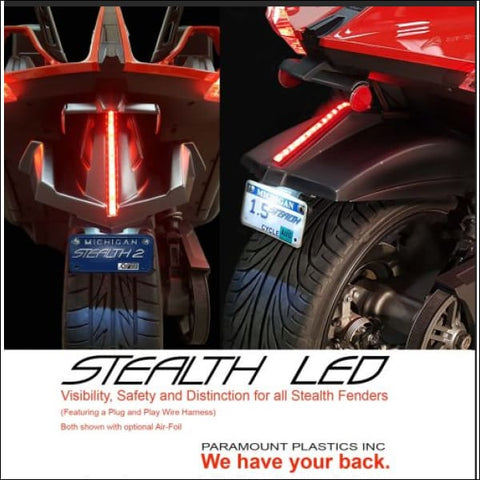 Stealth LED Fender Light Strip - exterior