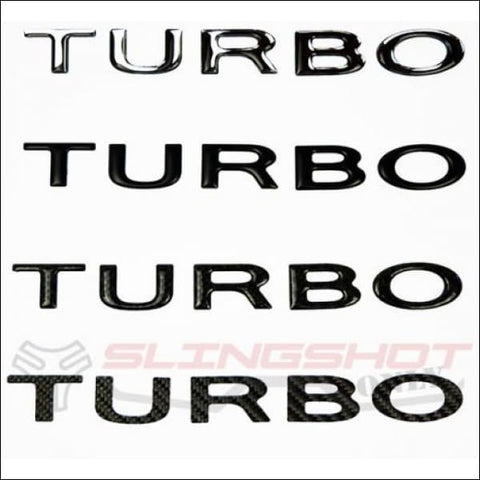 TURBO Letters Decal Kit for the Polaris Slingshot - exterior