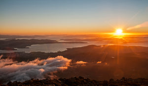 Sunrise atop Mount Wellington