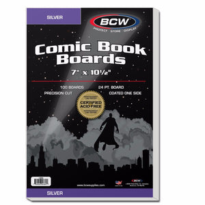 Silver Comic Backing Boards - 100 / pk
