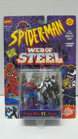 Spider-Man Web of Steel: Die Cast Metal- Spider-Man Versus Venom