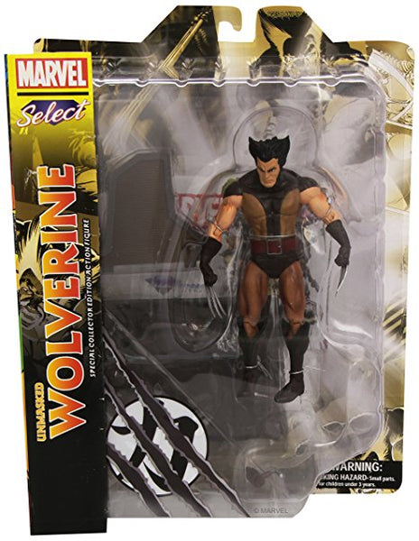 Marvel Select- Brown Wolverine Figure Unmasked