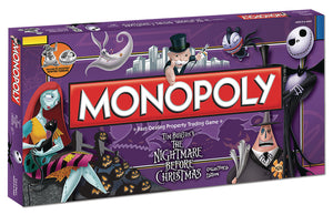 Nightmare Before Christmas Monopoly- 25th Anniversary Collector's Edition