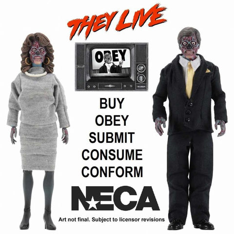"They Live Aliens 8"" NECA Action Figures 2-Pack"
