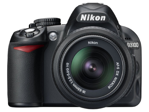 Nikon D3100 14.2MP Digital SLR Camera with 18-55mm f/3.5-5.6 AF-S DX VR Nikkor Zoom Lens ( Refurbished )
