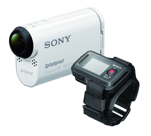 Sony HDR-AS100VR POV Action Video Camera with Live View Remote (White) ( Open Box )