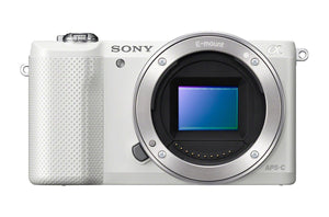 Sony Alpha A5000 ILCE5000/W 20.1MP Mirrorless Digital Camera Body Only (White) ( Refurbished )