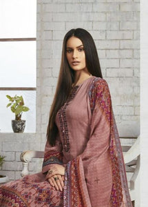Sweet Gulzaar !!! Rosewood cotton satin Print with embroidery  suits