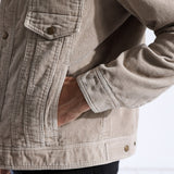 2018 Autumn Jacket Men Casual Fit Corduroy Coats