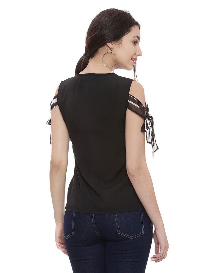 Casual Sleeveless Solid Women's Black Top