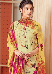 Premium Monsoon !!! Magenta print on cream colour