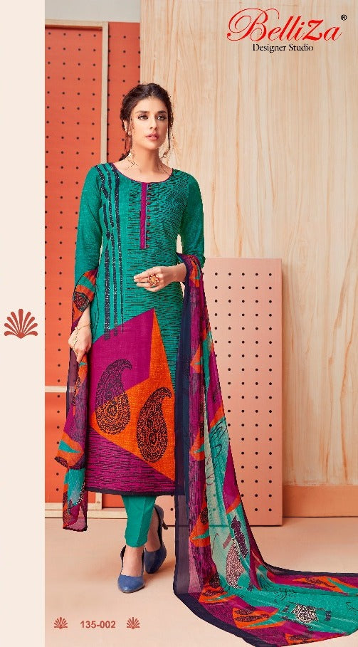 Premium Monsoon !!! Multi colour print on green