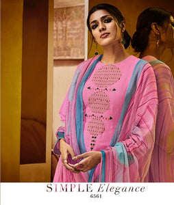 Gorgeous Haya !!! Pink with printed Dupatta