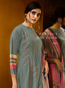 Gorgeous Haya !!! Sage green with pink print Dupatta