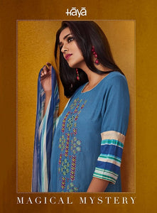 Gorgeous Haya !!! Blue with blue and cream mix  printed Dupatta