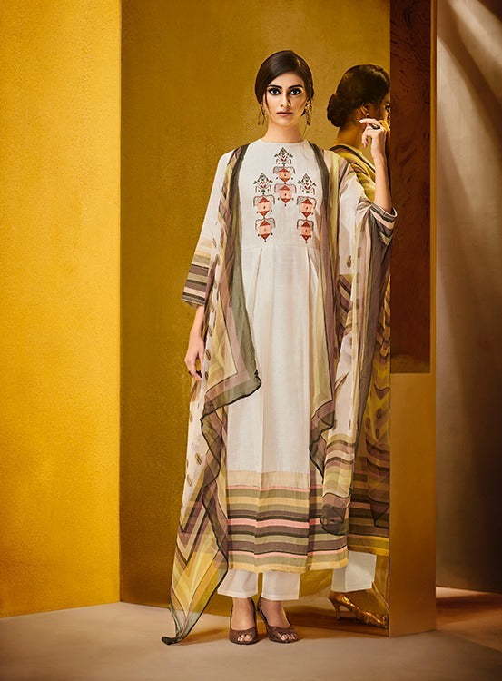 Gorgeous Haya !!! Cream with printed Dupatta